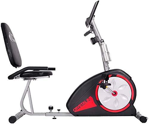 WLGQ Bicicleta estática reclinada, Bicicleta estática de Resistencia magnética eléctrica para Personas Mayores, Fisioterapia de extremidades Inferiores, rehabilitación, Ciclo de Fitness, biciclet