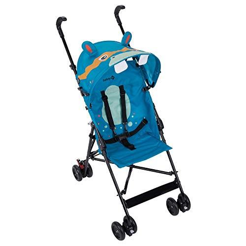Safety 1st Crazy Peps Silla Paseo ligera, capota con diseño divertito, Plegable y compacta, Pesa 4,6 kg, hipopótamo