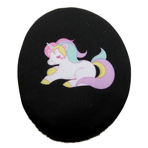 Earbags Cache-oreilles en cuir, personnalisables Large Licorne noire.