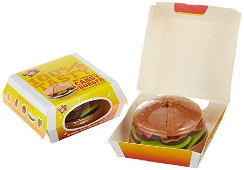 Look O Look Candy Burger-Kreation aus 22 Fruchtgummi und Schaumzucker-Stückchen auf Kunststoff-Unterlage im original Imbiss-Karton, 9er Pack (9 x 130 g)