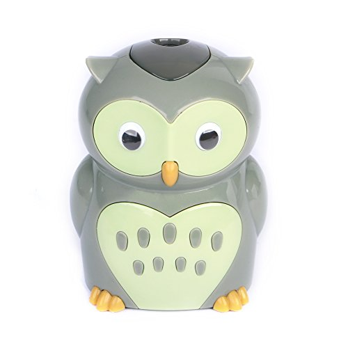 Eagle Owl Electric Pencil Sharpener, Cute Cartoon Animal Design, Battery Operated (Owl)