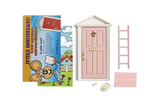 La petite souris: Porte Magique Rose + escalier + assiette + FROMAGE + paillasson + clef + Fond de porte de dessin + Carte de voeux + dessin à colorier et indiquer les dates pour chaque dent