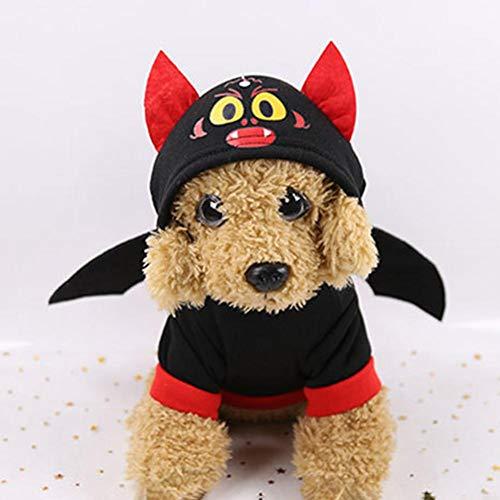 Ingeniously Pet Fledermaus Flügel Kostüm Fledermaus Flügel Halloween Weihnachten Hunde-Bekleidung für Cat & Dog Pet Kleidung Kleidung für die Halloween-Party-Katze Pet Supplies Kostüme Lustige Kleid