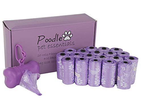Poodle Pet Biodegradable Dog Poop Bags 400 Count | Earth Friendly, Leak Proof, Unscented |...