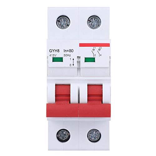 Interruptor de protección 2P, interruptor disyuntor, protección en miniatura para campo comercial industrial 80A/100A/125A(80A)