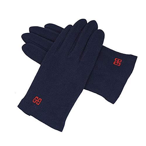 Swftc Herren Handschuhe Driving Male Sommer-Breathable dünne UV-Schutz Fahrer Handschuhe im Freien Thin Section Radfahren Laufen Touch Screen Breath Fäustling (Color : Blau)