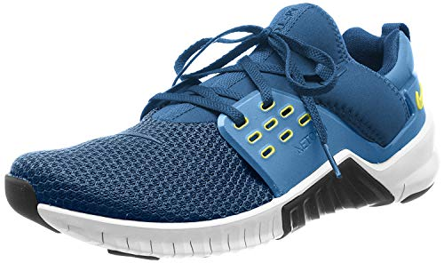 Nike Herren Free Metcon 2 Cross-Trainer, Blau (Blue Force/Black-Dynamic Yellow-White 407), 45.5 EU