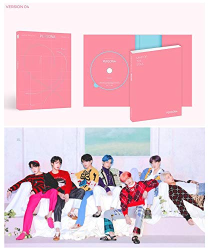 BTS Map of The Soul Persona Album PreOrder Version 4 CD+Poster+Photobook+Mini Book+Photocard+Postcard+Photo Film+Gift(Extra Double-Sided BTS Photocards Set)