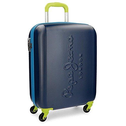 Pepe Jeans 7868751 Tricolor Equipaje de Mano, 55 cm, 38 Litros, Azul