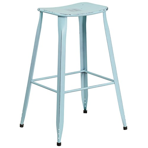 Sensational Turquoise Teal Metal Bar Stools Manly Homestead Dailytribune Chair Design For Home Dailytribuneorg