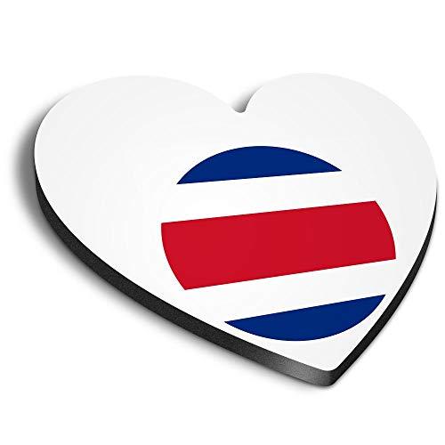 Destination Vinyl ltd Aimants en MDF en forme de cœur – Carte du drapeau du Costa Rica pour bureau, armoire et tableau blanc, autocollants magnétiques, 9037