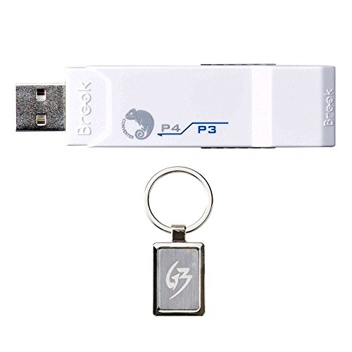 Gam3Gear Brook Super Converter PS3 to PS4 Controller Gaming Adapter with FREE Keychain