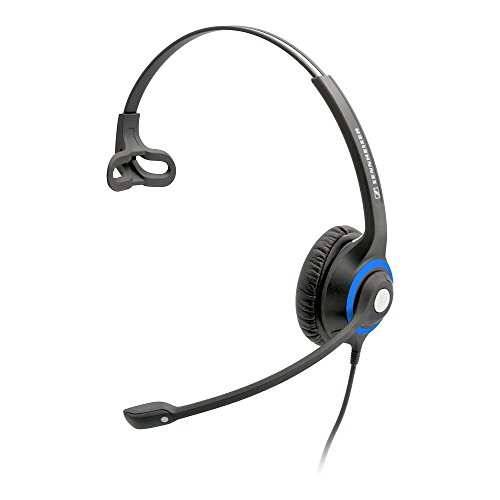 Sennheiser DeskMate Single-Ear Corded Headset with Noise-Canceling Microphone for Cordless Home Telephones with 2.5MM Jack