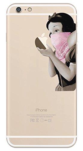 カインドストア iPhone 8 Plus/iPhone 7 Plus/iPhone 6s Plus/アイフォン / アイホン スマホ ステッカー シール 白雪姫 ピンク ギャングスタ プリンセス Pink Gangsta Princess iPhone 7 Plus/6s Plus M626-6Plus