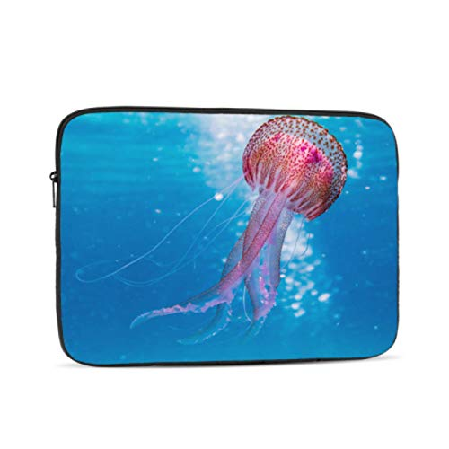Mac Book Covers Colored Jellyfish Creature Laptop Macbook Pro Multi-color & Size Choices 10/12/13/15/17 Inch Computer Tablet Briefcase Carrying Bag