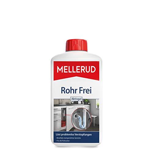 Mellerud Rohr Frei Aktivgel – Leistungsstarker Abflussreiniger gegen Verstopfungen und Gerüche für alle Rohrarten – 1 x 1 l