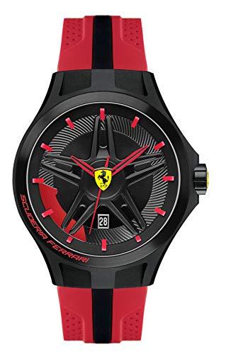 Scuderia Ferrari Reloj Digital para Hombre de Cuarzo con Correa en Caucho 830159