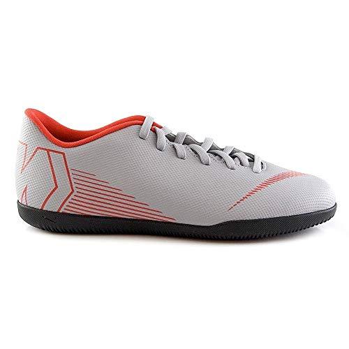 Nike JR Vapor 12 Club GS IC, Zapatillas de fútbol Sala Unisex niño, Multicolor (Wolf Grey/Lt Crimson/Black 060), 33 EU
