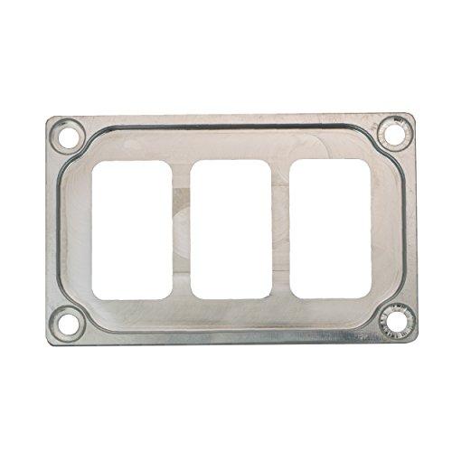 STV MOTORSPORTS Universal Switch Dash Panel Custom CNC Billet Aluminum 3 Rocker Switch Slots (Aluminum)