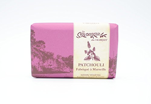 Savon végétal - PATCHOULI - Enrichi au beurre de karité 125g (1 x 125 g)