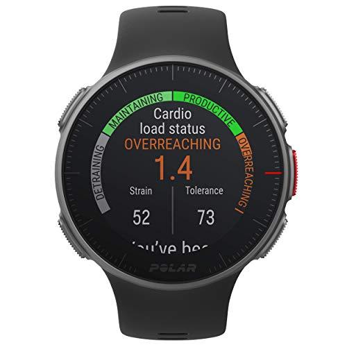 POLAR VANTAGE V – Premium GPS Multisport Watch for Multisport & Triathlon Training (Heart Rate Monitor, Running Power, Waterproof), Standard Edition, Black