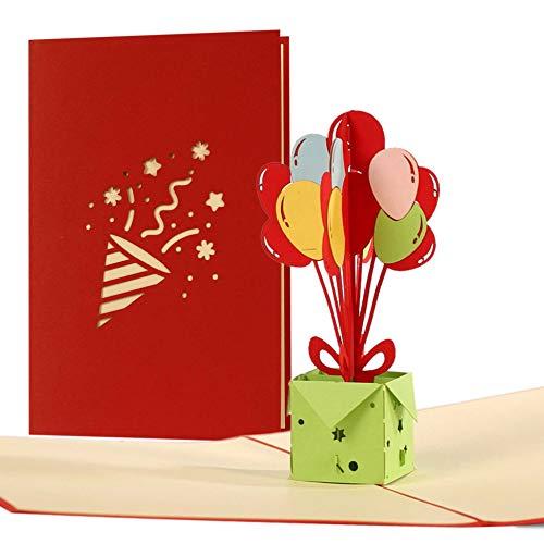 Geburtstagskarte, Glückwunschkarte z.B. für Kinder, Mama, Papa oder auch für Opa, vintage, originell, Einladungskarten zum Geburtstag, Gutschein blanko mit Umschlag, G15AMZ