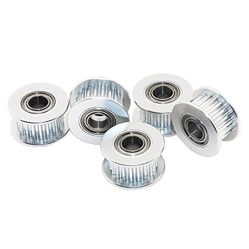 Redrex 5Pcs 20 Denti 5mm Foro GT2 Timing Puleggia di Rinvio per Stampante 3D 6mm Larghezza Cinghia di Distribuzione