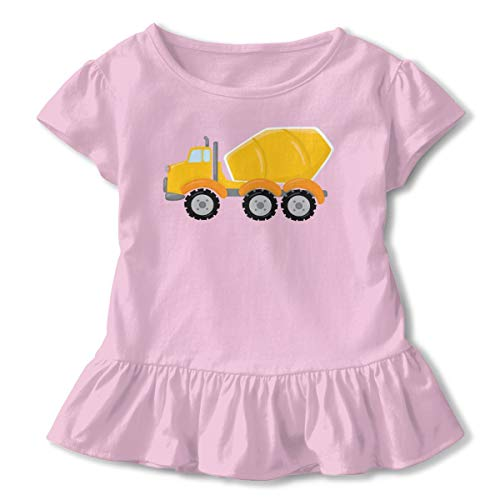 Construction Zone Cement Truck Children's Short Sleeve T Unisex Baby's Climbing Clothes Bodysuits Romper Short Sleeved Light Onesies Pink 5/6t