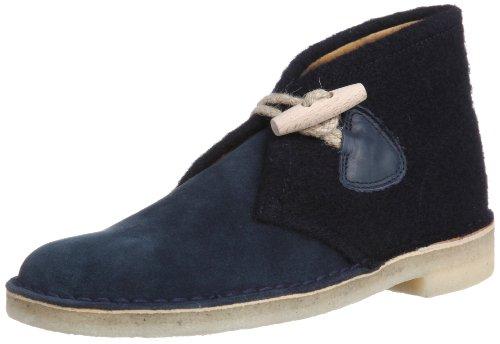 Clarks Desert Chukka Boot, Blu (Navy Gloverall/Navy Suede), 39.5