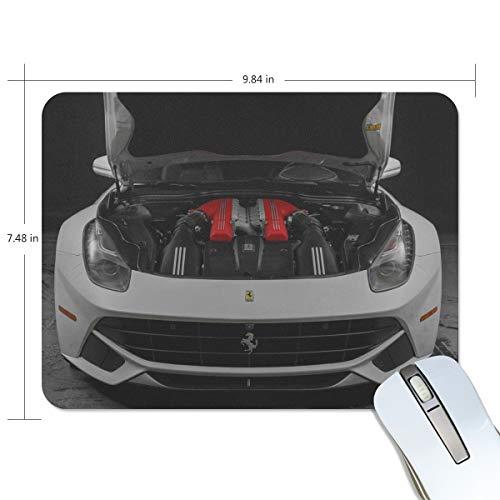 Mouse Pad Ferrari Sports Car Hood Car Customized Rectangle Non-Slip Rubber Mousepad Gaming Mouse Pad Mat 9.8x7.5-inch