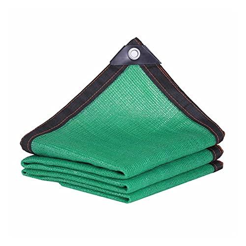AWSAD Verde Lona De Sombra Rectangular Red de Sombra 95% de Bloqueo UV con Ojales por Estanque Garaje Invernadero, 24 Tamaños (Color : Green, Size : 8x15m)