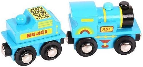 deportes calientes Bigjigs Rail BJT411 azul ABC Engine by Bigjigs Bigjigs Bigjigs Toys  están haciendo actividades de descuento