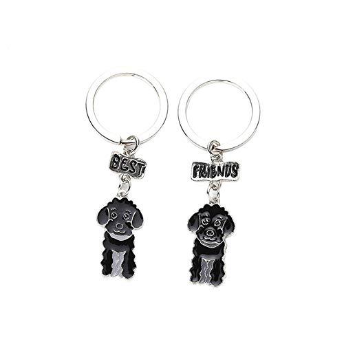 zNLIgHT 2 Stks Beste Vrienden Hond Kattenkraag Naam Tag Graveren ID Adres Ring Hanger Gift - Wit, 1SIZE, Zwart