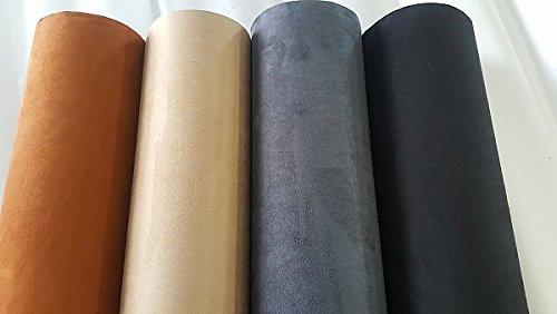 Neoxxim 21,53€/m² Microfaser-Stoff selbstklebend braun - 100 x 144 cm Wildleder-Optik flexibel Design Decor-Stoff Himmelstoff Autofolie Klebefolie Klebestoff