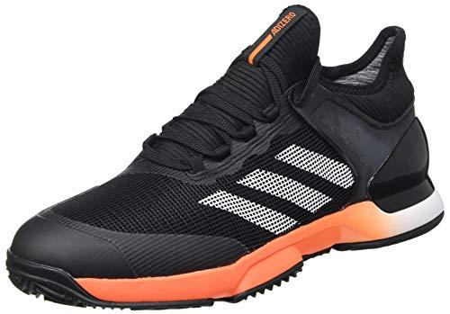adidas Herren Adizero Ubersonic 2 Tennis Shoe, CBLACK/TRUORA/FTWWHT, 44 2/3 EU
