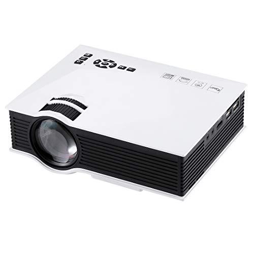 Beweglicher Projektor, Miniprojektor, Beamer Sunzimeng UC46 1200 Lumen HD 800 X 480 Digitaler LED-Projektor mit Fernbedienung, Unterstützung USB/SD/VGA/HDMI (Schwarz) LED-Projektor für Heimkino