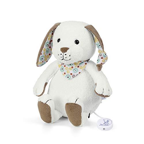 Sterntaler Spieluhr, Stofftier Hase Hoppel, Austauschbares Spielwerk, Größe: M, Weiß