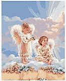 Kit Manualidades Decoraciones para El Hogar - Pintura por Número De Kit DIY Regalo para Adultos O Niños - Bebé Ángel