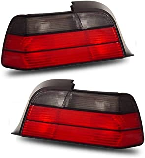 SPPC 2 Door Taillights Red/Smoke Assembly Set For BMW 3 Series E46 - (Pair) Driver Left and Passenger Right Side Replacement