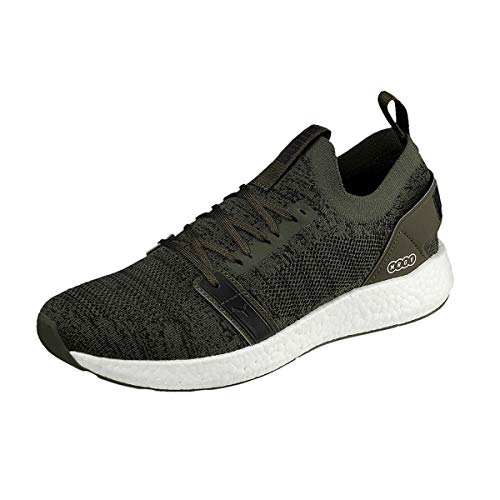Puma Herren Nrgy Neko Engineer Knit Laufschuhe, Grün (Forest Night-Puma Black 05), 45 EU