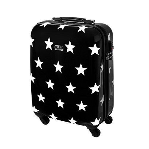 Karry rígida Viaje Maleta TSA Negro Estrellas 820, Handgepäck Reise Koffer 30 Liter Schwarz Sterne 820 (Negro) - 121536575