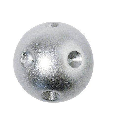 Rayher - Schmuckkugel Vivienne, 22 mm, für 9 Steine, Blister 1 Stück, silber