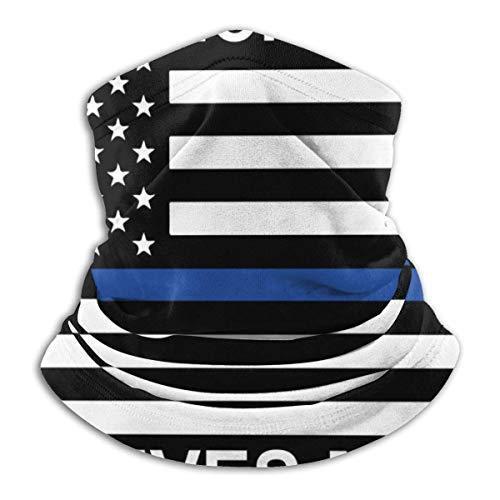 fenrris65 Blue Lives Matter Police Flag Face Cover Face Scarf Head Wraps Neck Polaina Pasamontañas para deportes al aire libre