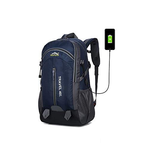 NewMum Mochila de Senderismo al Aire Libre Mochila Impermeable de Viaje de Gran Capacidad Hombres y Mujeres para Mochilas con Conector USB 40L