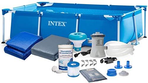 Intex pol-Baby 28272 300x200cm 7in1 Rectangular Pool Set mit Filterpumpe und Zubehör