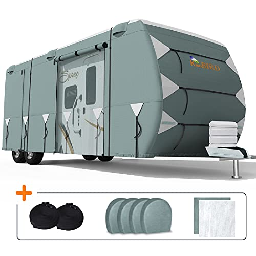 KING BIRD Extra-Thick Travel Trailer RV Cover