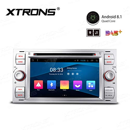 AUTORADIO 7' XTRONS Android 8.1 SILVER per Ford C-Max Connect Fiesta Fusion Galaxy Kuga Mondeo S-MaxTransit Focus / Focus II