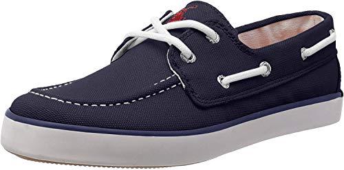 Polo Ralph Lauren Kids Sander Canvas Fashion Boat Shoe (Little Kid), Navy, 2.5 M US Little Kid