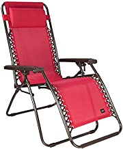 Bliss Hammocks Zero Gravity Chair, Red, 26