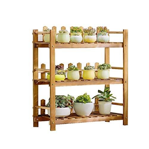 YINUO Plateau à fleurs en bois massif Vert aneth Étage multicouche Plancher charnu Balcon en bois Salon Espace intérieur (Color : B, Size : 90cm)